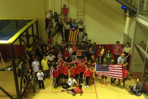 Manhattan Kickers FC and Castellers de Barcelona had a great time together