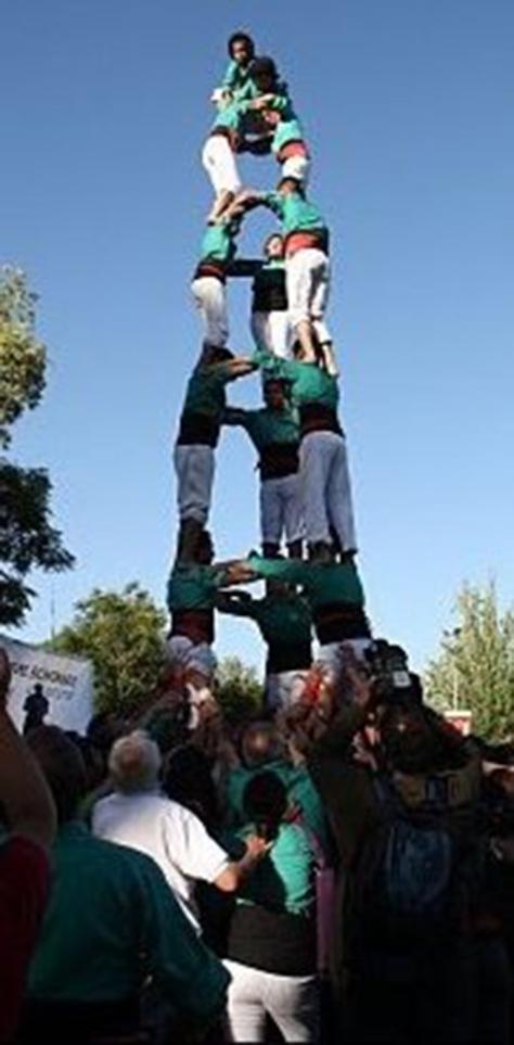 Lo Prado has raised one of the hardest castells overseas, 3de7, last season. (PHOTO: Castellers de Lo Prado)